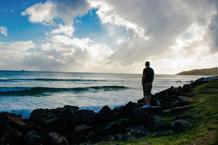 ポイントに入る前に波を十分に観察する