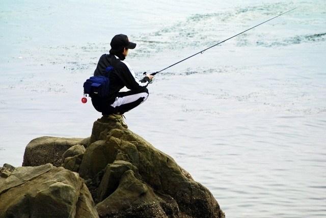 軽装で釣りができる
