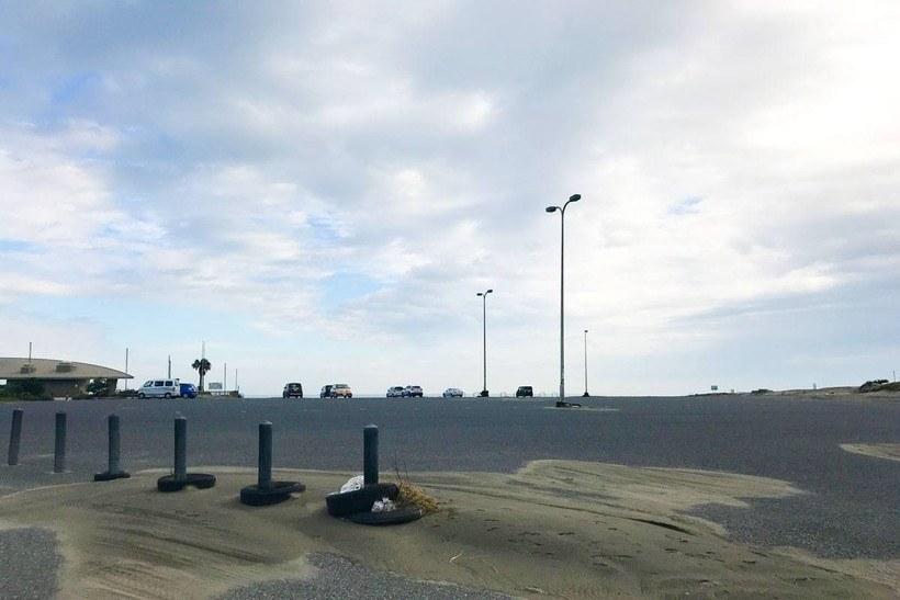 大原海水浴場の駐車場