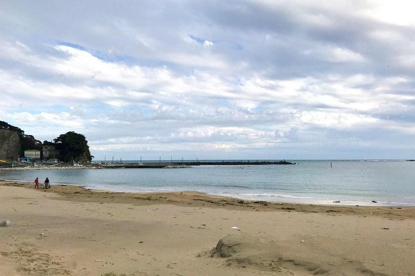 興津海水浴場の風景写真