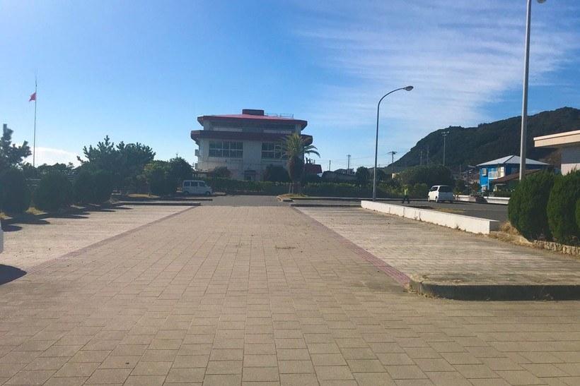 城崎海水浴場の駐車場