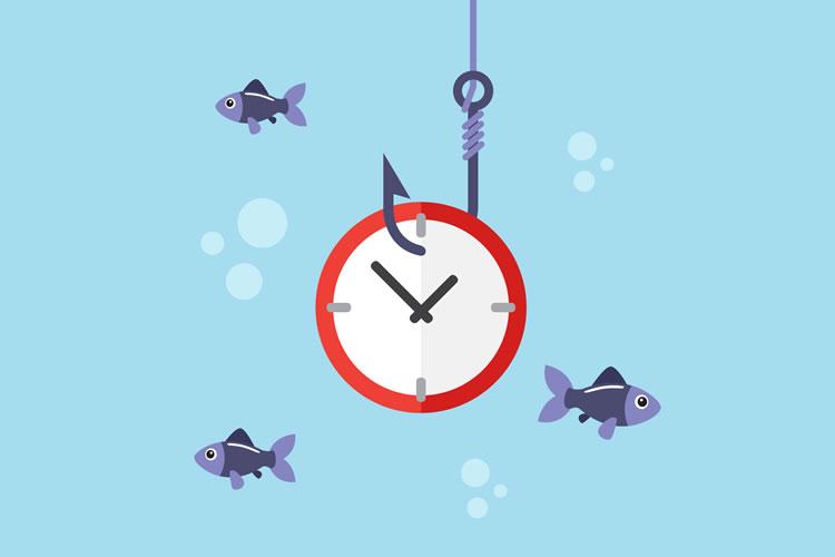 釣れる時間帯(時合)に釣りをしていない
